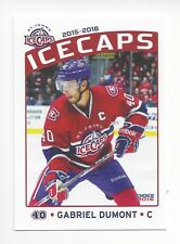 2015-16 St. John's IceCaps (AHL) Gabriel Dumont (Syracuse Crunch)