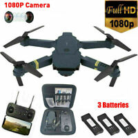 Drone X Pro WIFI FPV 1080P HD Camera 3 Batteries Foldable Selfie RC Quadcopter #