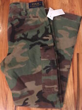 NWT POLO Ralph Lauren Camouflage USA Army Cargo Pants Slim Fit 34x32 rrl