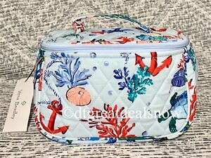 NEW Vera Bradley Bag Travel Cosmetic Anchors Aweigh Bag Light Blue