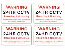 CCTV WARNING SIGNS x 4 - Security Camera Sign - Outdoor or Indoor use
