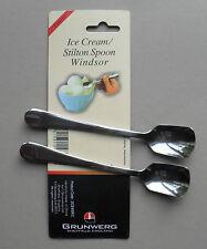 Ice Cream Stilton Stainless Steel Spoon, Pack of 2 Spoons, Windsor by Grunwerg