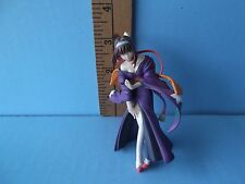 "Sumire Sakura Wars Hot purple flowing dress/kimono pretty!  4""in PVC Figure"