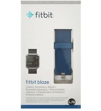 Fitbit Blaze Accessory Band, Classic, Blue - Large - FB159ABBUL