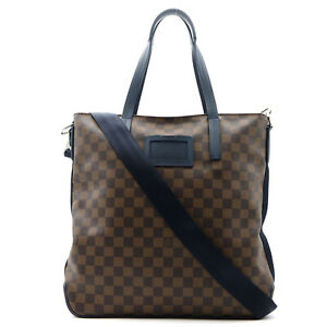 LOUIS VUITTON Herald 2way Tote Bag N41255 Damier PVC canvas leather Used mens