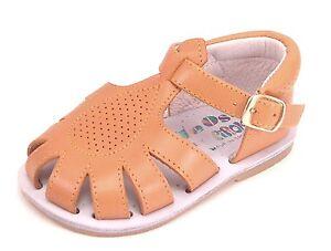 DE OSU 440 - Baby Tan Leather Fisherman Sandals - European1st Walkers Size 2.5-4