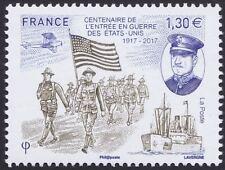 2017 FRANCE N°5156** CENTENAIRE ENTREE EN GUERRE DES ETATS UNIS 1917 2017 MNH