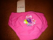 Speedo junior girls sea squad pink swim nappy 6-12 months bnwt rrp £14