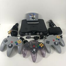 Nintendo 64 N64 Console Bundle With 3x Original Controllers Cables & Game TESTED