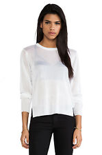 Cheap Monday Meg Knit White Sheer Long Sleeve Sweater Sz S NWT $95.00 IRRG
