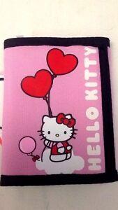 Hello Kitty - Sanrio - Portafoglio in Tessuto Rosa Chiaro - Cartorama - Nuovo