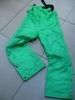 Mens NEVICA Salopettes ski Pants 40 med ladies UK 14 12 retro vintage neon green