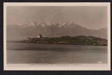 vintage real photo Trial Island Lighthouse Victoria B.C.Canada postcard