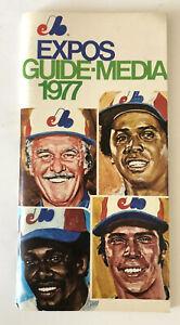 1977 Montreal Expos Media Guide Andre Dawson Tony Perez Gary Carter