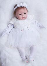 22'' Reborn Baby Recién Muñeca Realista Silicona Bebé niña Lifelike Juguete 13 H