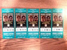 Sugar Ray Leonard/Thomas Hearns Full Fight Tickets (5) 3 Consecutively Numbered