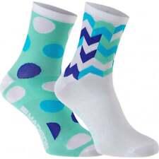 Madison Sportive Women's Mid Socks Twin Pack Blue combo Medium 40-42