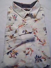 SEAN JOHN Men's Long Sleeve  Shirt beach shells sand  size XXL 2XL Tailored Fit