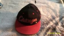 chicago snapback cap, red and black