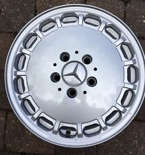 ++ 4x Mercedes W124 W201 Gullideckel Fuchs Alufelgen 7x15 Sportline ++ Neuwertig