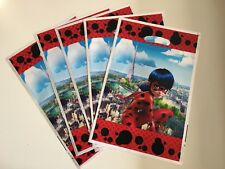 10 pcs Miraculous Ladybug Happy Birthday Party Bags Loot Bag Decoration