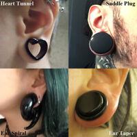 Acrylic Spiral Ear Taper Stretcher Expander Gauge Heart Ear Tunnel Plug Piercing