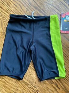 Speedo boys black/lime swim jammers in S brand new with tags SPF50