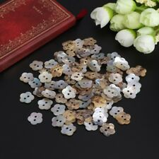 14mm 100Pcs  Mother Of Pearl Flower Shell Sewing Button 2 Holes Sewing DIY Craft