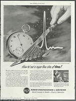 1950 RADIO CORPORATION of AMERICA advertisement RCA Graphechon tube large advert
