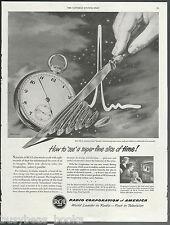 1950 RADIO CORPORATION of AMERICA advertisement RCA Graphechon tube large advert