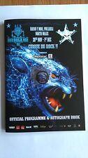 Hard Rock Hell 7 Cirque Du Rock - Programme + Pin Badge NEW