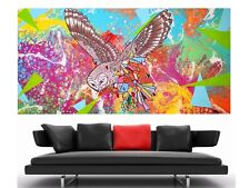 WEISE XXL Acryl BILD Abstrakt Gemälde Leinwand 75 x 150 auf Keilrahmen Nr.46/21