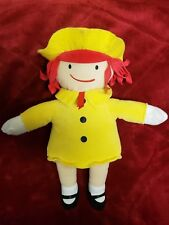"2016 Kohl's Cares Madeline Red Yellow Soft Plush Stuffed Doll Toy 14"" Euc"