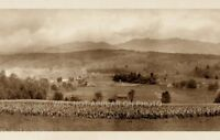 """1914 Stowe Vermont Vintage Panoramic Photograph 35"""" Long"""