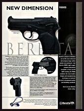 2000 Beretta 9000S Type F Pistol Print Ad Collectible Gun Advertising