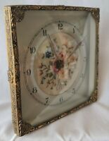 Rare Early English Smiths Clock Embroidery Hand Crafted Mantel Shelf Art Deco