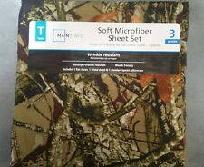 Mainstays Twin Size Microfiber Camo Sheets Set