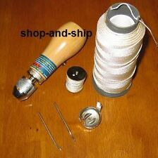 SEWING AWL KIT STITCH LEATHER CANVAS TENT TOOLS THREAD