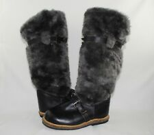 Russian Gray & Black Unty Ugg Knee High Cold Weather Winter Boots