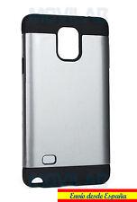Funda / Carcasa Samsung N910 - Galaxy Note 4 antigolpes tipo Spigen  gris plata