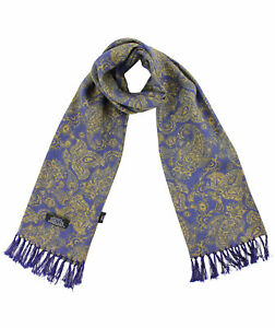 Tootal Navy Blue Paisley Rayon Scarf