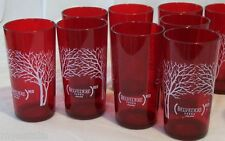 NEW Lot of 12 Red Acrylic 8oz/1cup BELVEDERE Red Vodka Cups Great for Parties!