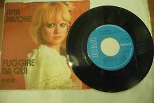 """RITA PAVONE""""FUGGIRE DA QUI-disco 45 giri disco RCA it 1976"""""""