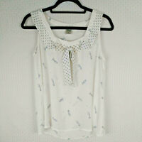 Disney by Lauren Conrad Collection Minnie Mickey Mouse Sleeveless Top Size Small