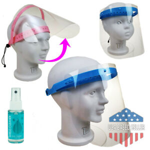 Childrens Face Shield Flip Up Boys Girls Protection Mask Clear Lot Wholesale
