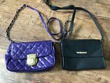 Small bags one purple one black