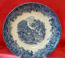 Wedgwood Blue Queen's Ware Chiddingstone Kent Scene Romantic England Pasta Bowl