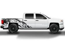 Custom Vinyl Decal BURST Wrap Kit fits Chevy Silverado 1500/2500 2014-2017 BLACK