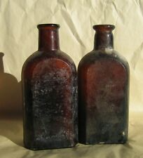 VTG Amber Brown Cork Top Apothecary Bottles Bubbles Rx