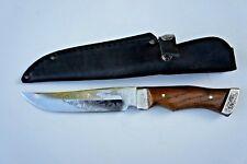 "Handmade Custom Hunting Knife Natural Wood Handle.""Sputnik"" Made in Europe!"